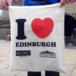 The Scotsman are doing their free I ❤️ Edinburgh canvas bags again at various spots around town http://t.co/jdQ7YGXxMw