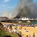 UPDATE: Eastbourne Pier fire not suspicious, Sussex Police say: http://t.co/hhauCF8Em0 http://t.co/juiGySd5eB