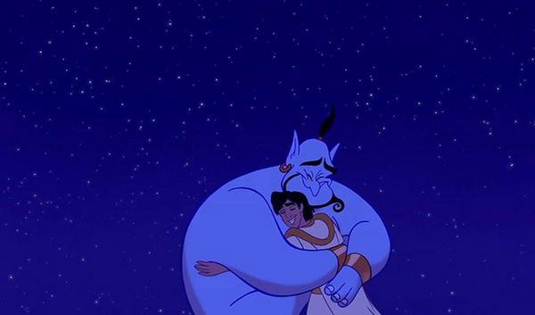 """Genie, you're free!"" #RIPRobinWilliams http://t.co/HnjsquaXhD"