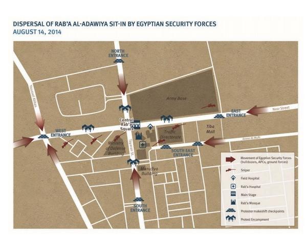 خريطة اعتصام رابعة وفق تقرير @hrw بيوضح اماكن القناصة والمتظاهرين وتفاصيل كثير مهمة http://t.co/CLy8OwDZJ3