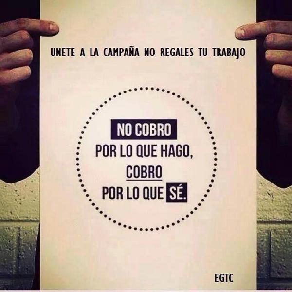 """""""No cobro por lo que hago … cobro por lo que sé"""" #1000tentaciones #fb http://t.co/FEdW8FUKOm"""