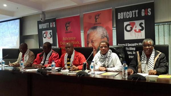 South Africa's largest trade union movement leadership showing solidarity with Palestinians  http://t.co/StlIcSrlqo (@_cosatu @Zwelinzima1)