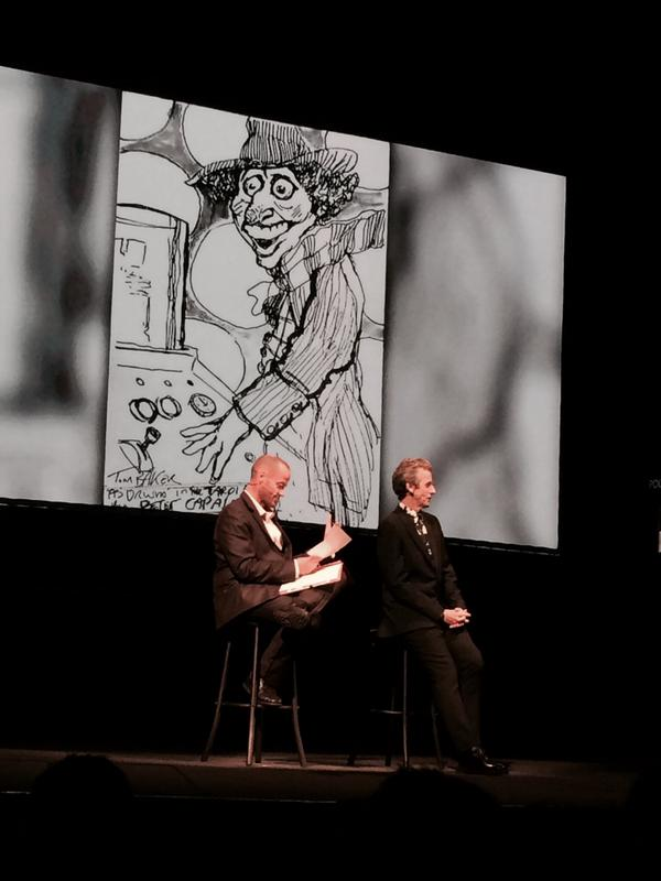 A drawing Peter Capaldi drew when he was younger. Always a #DoctorWho fan #DWWorldTour http://t.co/XH65UAJPJt