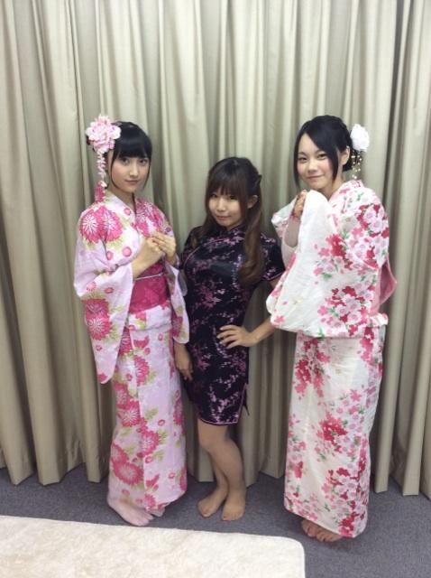 【再掲】ニコ生ご視聴有難うございました!! エリイちゃんと堀野先輩の浴衣姿如何でしたでしょうか。 2人ともピンクで可愛か