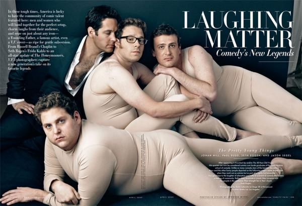 Stumbled upon this picture of Jonah Hill, Paul Rudd, Seth Rogen, and Jason Segel this morning: http://t.co/p9lvZOXh1S