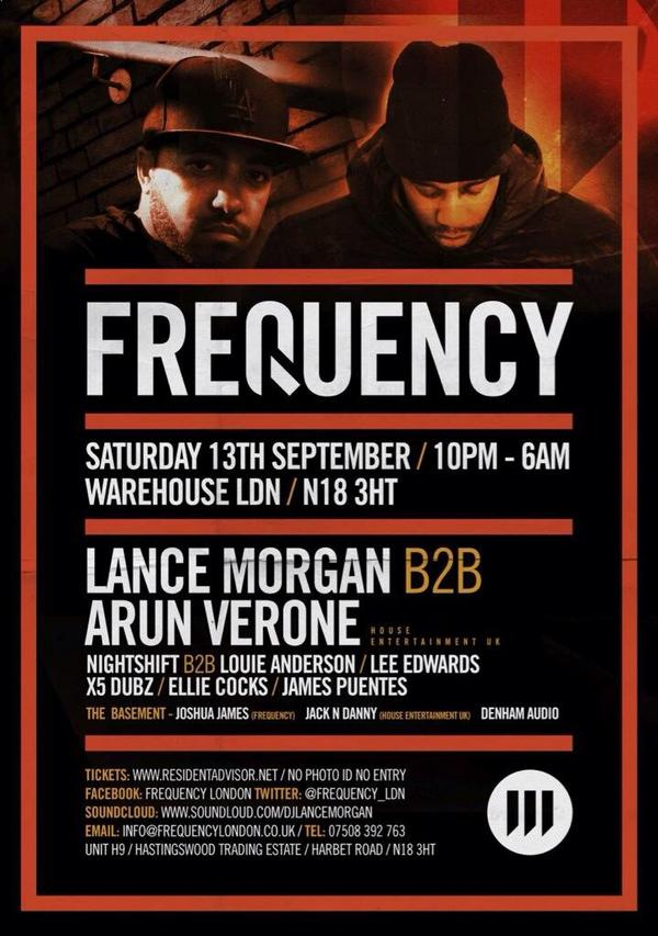 13th September we're making our London debut at @WarehouseLDN for @Frequency_LDN http://t.co/tee6d0dj0P