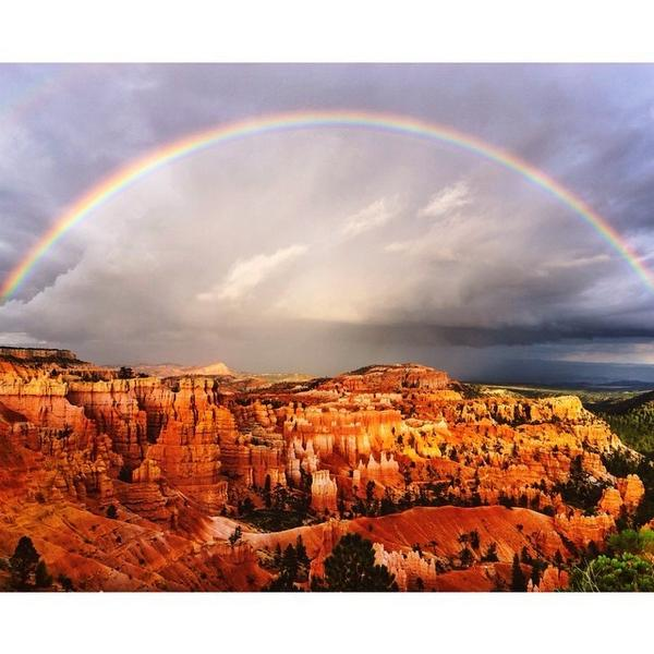 This #TravelTuesday features a magnificent rainbow captured over Bryce Canyon National P... http://t.co/aPrR7rM2Rv http://t.co/TD9RFXbG2N
