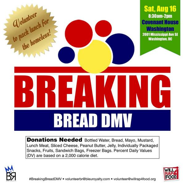 After volunteering at #BreakingBreadDMV Saturday, we're going to celebrate life at #TheWave - w/ 10 DJs☆☆ #WR4F #HLK http://t.co/JLAQRRfHE1