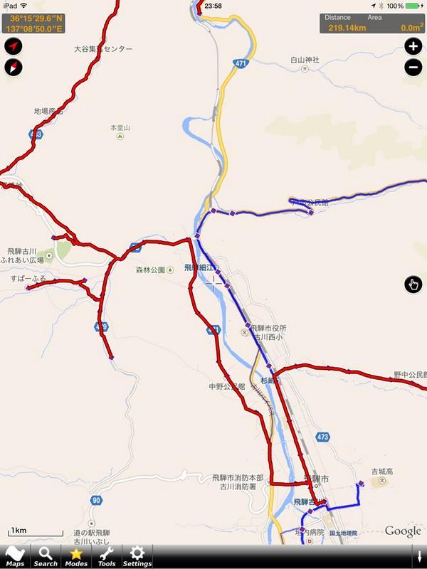 日本最長の100円バス、飛騨市巡回バス路線図の存在感。 http://t.co/Ur1Fdcb2LL