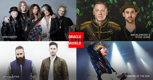 Four Bands. Three Epic Nights. Join Oracle for 3 evenings of entertainment, all during #oow14 http://t.co/1LReEUzBL8 http://t.co/fY17jfWTh0