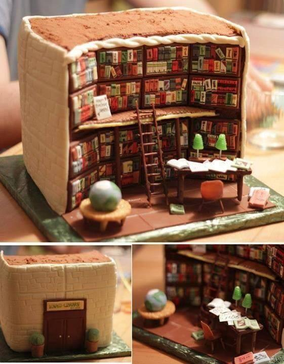 """Love-> RT @jennifer_ehle Lovely! """"@TheresaRomain: The perfect birthday cake for a bookaholic. @ReginaSmall http://t.co/PzfSqzhjGK"""""""
