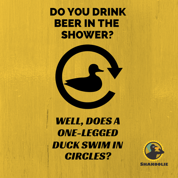 "Someone once asked us ""Do you drink beer in the shower?"" - this was our response: http://t.co/pGDYSkv4OW"
