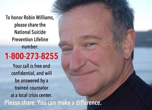This needs a Retweet! #depressionawareness #RobinWilliams #makeadifference http://t.co/qYvcpJvN5x