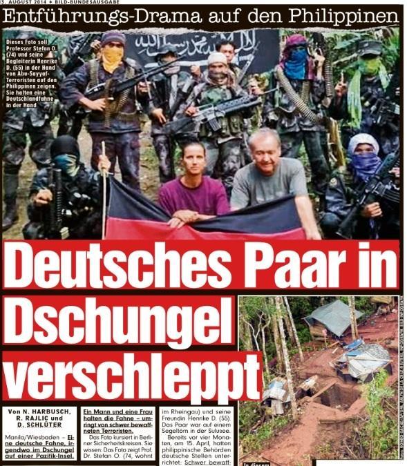 RT @BILD_Reporter: Morgen in BILD: Deutsches Paar in Dschungel verschleppt http://t.co/HCTyqnzsPW