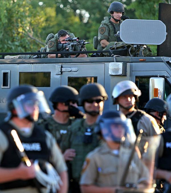 """@IamRah: Smfh RT @PDPJ: #Ferguson picture from earlier in the day, high powered rifles trained on protesters http://t.co/1yiHsQlDCX"""