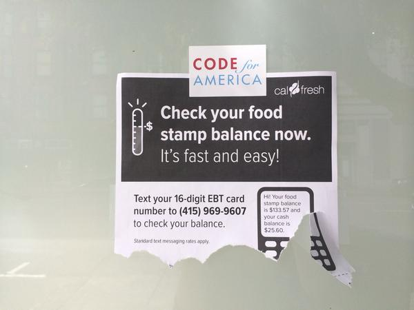 Check your food stamp balance via SMS #codeforamerica #techforgood #twiliopowered http://t.co/dtMt43IJJa
