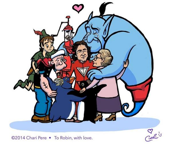 A beautiful tribute to @RobinWilliams from artist Chari Pere. http://t.co/HvcOrFaRWY