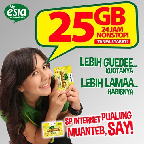 Internetan kuota 25GB tanpa syarat, MAU?? Beli Esia Cringg di gerai & outlet2 hape terdekat! @EsiaSOLO_ @EsiaJogja http://t.co/Clp0R2X61Z