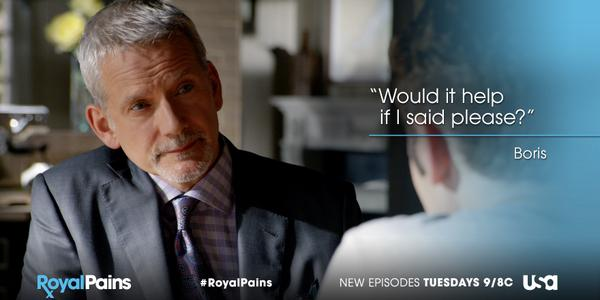 Retweet if you're happy to see Boris again! #RoyalPains http://t.co/ZaP6XmxfcL