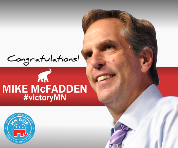 Congratulations to @MikeForMN on his impressive #mnprimary victory! http://t.co/GynQv3rwDq #MNGOP http://t.co/od7khCdihw