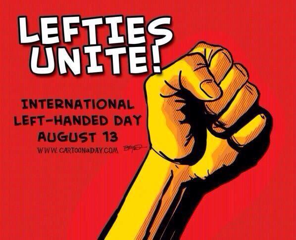 Morning! Happy #LeftHandersDay !!! RT if you're a leftie!!! http://t.co/KOAzXnhyzI