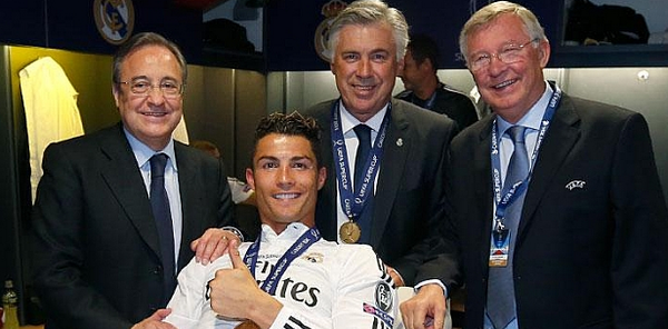 Bu6AuCWCMAAD58k Former Man United pair Cristiano Ronaldo & SAF held a touching press conference after Super Cup