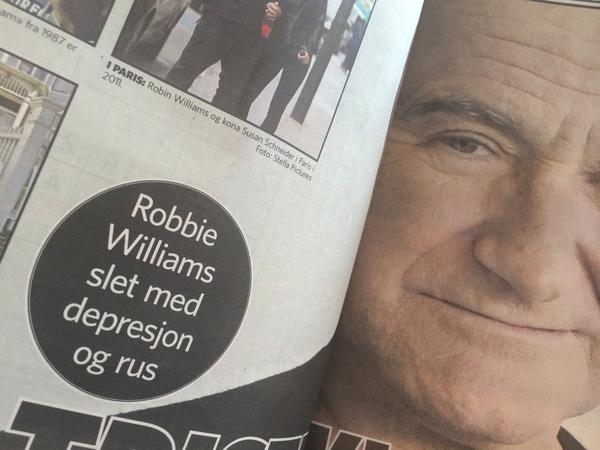 Oh, my... One of norway's biggest newspapers just killed @robbiewilliams http://t.co/SErAmfKoWU