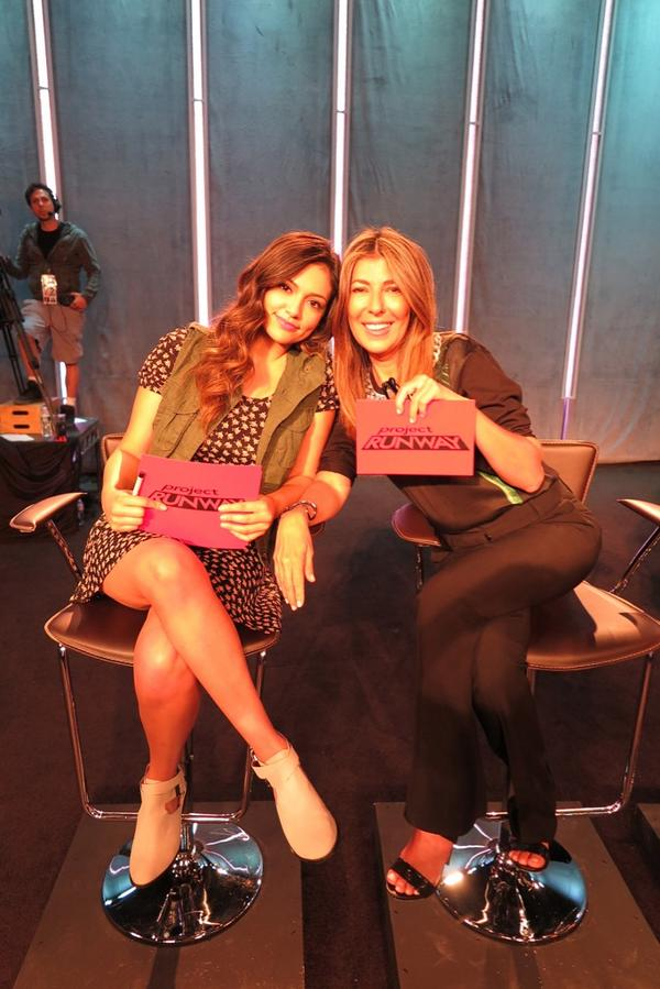 Here I am with the fabulous @BethanyMota on set @projectrunway! Loved having her!!! #bethanymota http://t.co/kFCJiTYbap