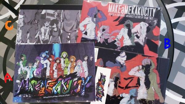 【MAKE a MEKAKUCITY】クリアファイルはクリアステッカー(共通1種ロゴ柄)とのセット3種類!どれも可愛い!