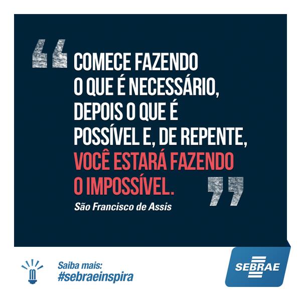 Com planejamento e boa gestão, seus passos ficam cada vez mais firmes para o sucesso do seu negócio. #SebraeInspira http://t.co/3y6gBXcuvX