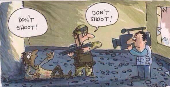 Political cartoon depicts the madness that is #Ferguson. http://t.co/u9dN85qavK