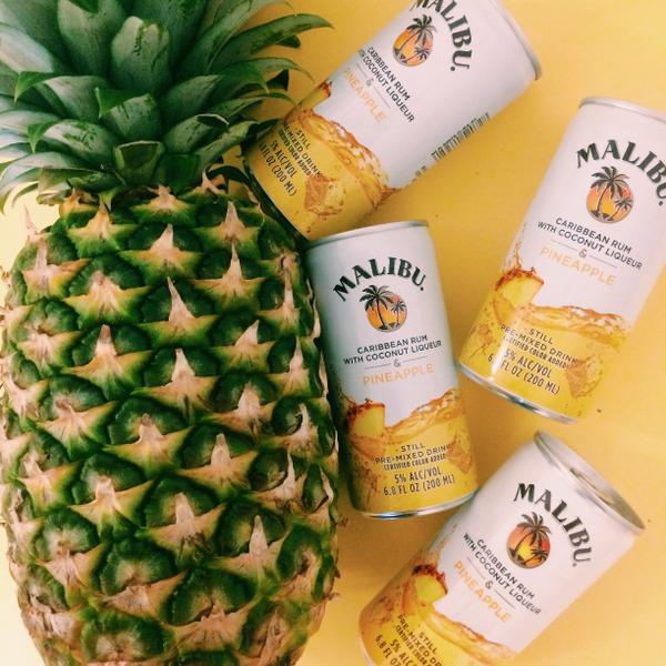 Malibu & Pineapple- a classic, now in a can. #MalibuCans http://t.co/VGfM672bbx