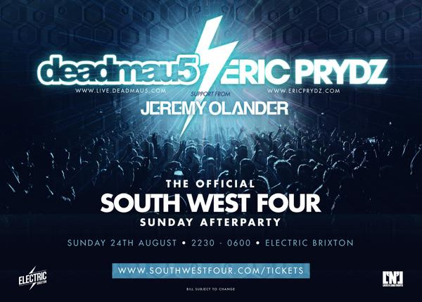 @deadmau5 AND @ericprydz headline the SW4 Sun after-party! RT & u could win 4xVIP glist! Tix: http://t.co/RsZQusp1SF http://t.co/lS4odFuFxI