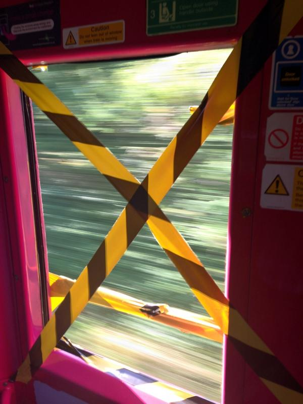 @FGW hi just to let you know I nearly fell out your train window which was missing. The corner took me by surprise http://t.co/UtCzNj3gHv