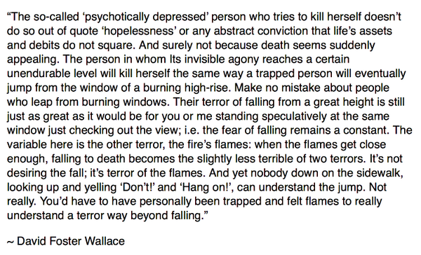 "For those who believe suicide is a ""selfish"" act. Perhaps take these words into consideration. http://t.co/LT3lVk9YFx"