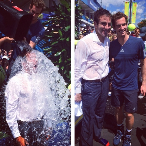 I'm proud to have accepted the #IceBucketChallenge from @andy_murray today! #StrikeoutALS #cincytennis #usopenseries http://t.co/wG8pEeQu27