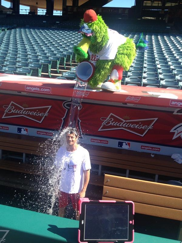 Cole Hamels takes the ALS ice bucket challenge. http://t.co/aAzuB2ALxH