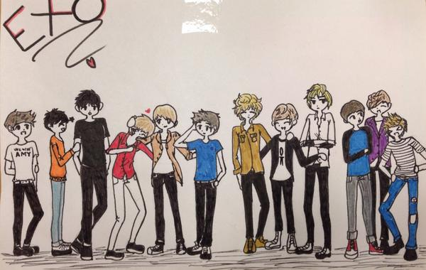 Shoutout to the girl who works at @IOTABrewCafe who drew this amazing fanart for the @soompi booth at #KCON2014 http://t.co/mkgucDedRQ