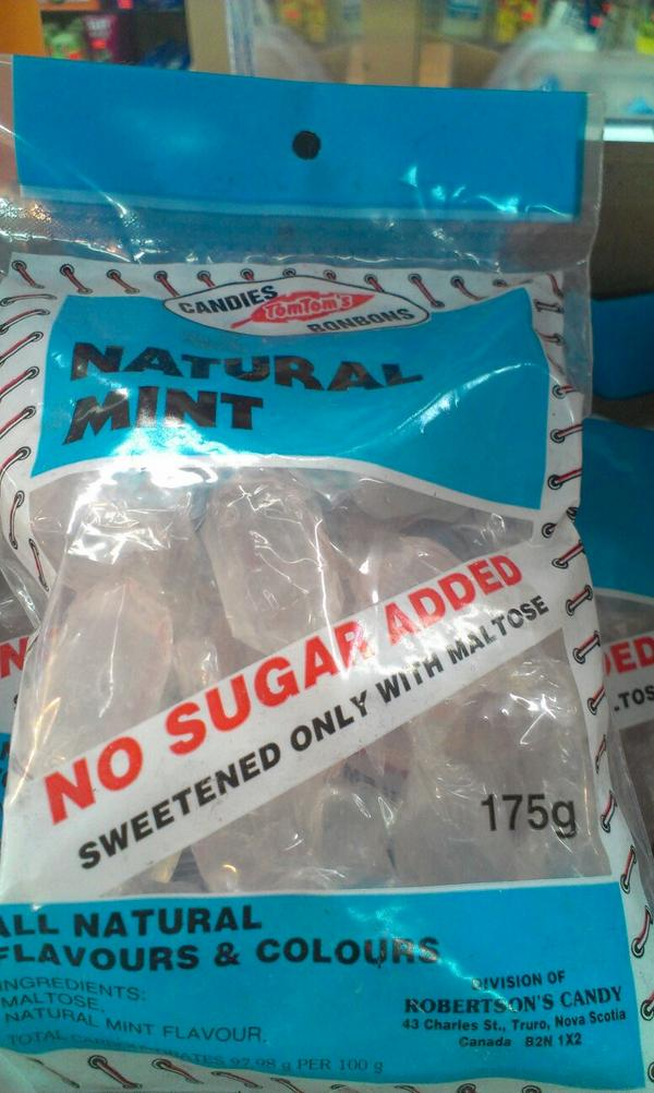 TravisSaunders (@TravisSaunders): No sugar added. Except for the first ingredient. Which is sugar. #ridiculous http://t.co/BSs0KRfQtA