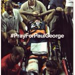 Thoughts go out to #PaulGeorge. You never want to see a player get injured like that. Wish him a #SpeedyRecovery! http://t.co/Zun0j3Haax
