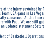 RT @Pacers: Statement from Larry Bird about Paul George: http://t.co/xIRjSqxuwJ