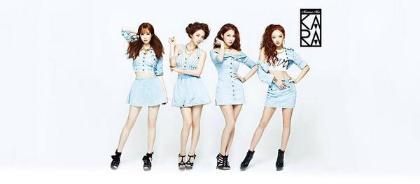 KARA's cover photo for their upcoming Japanese single 'Mamma Mia' http://t.co/XqtBKF4n52