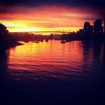 Right down at #falsecreek now @mandescending. #sunset http://t.co/bToYVOmgqe