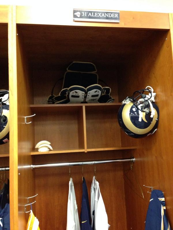 Gotta be a cool moment for Maurice Alexander to have a locker in the Dome now... after once having job cleaning it up http://t.co/59Fs7y8ivn