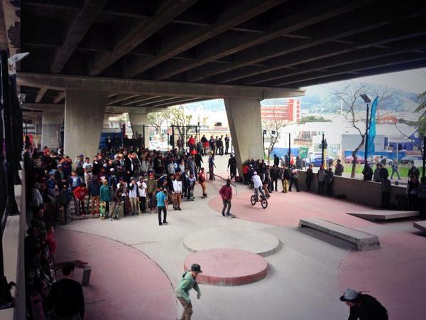 Dead space under bridge opens as skate park. Read more http://t.co/gd6m2tZgog http://t.co/LaPbD7COBu