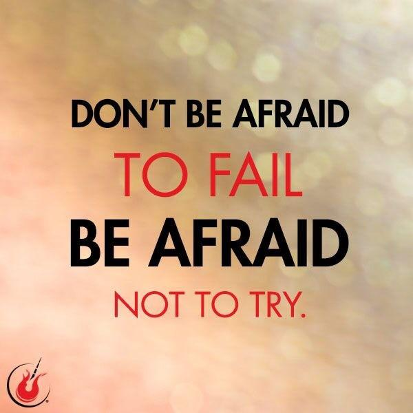 Don't be afraid to fail. Get out there and get your run or workout done! You'll be happier that you did! http://t.co/uPJoRe9feo
