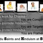 #HinduSaintsAtTarget All leading Hindu Saints who did substantial work for Dharma, have been framed  https://t.co/ppFefpe0KV