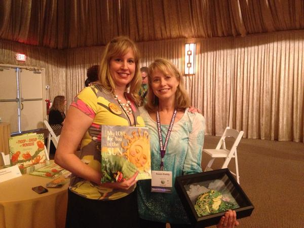 Fun at #LA14SCBWI - seeing an author and illustrator of a PB together! with @JulieFHedlund and @EaddySusan http://t.co/FV1e8dviVT