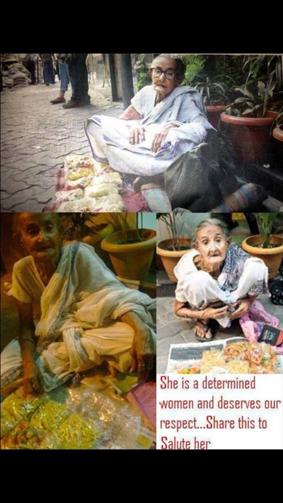 She is 83 does not beg. Works daily for her living. RESPECT!!!  #Emotionalrespect http://t.co/5EaiyqakqK