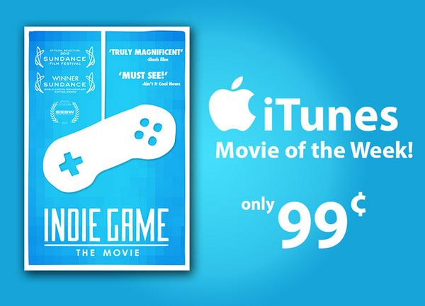 Friendly reminder: This weekend @indiegamemovie is on sale on @iTunesMovies for only 99 cents https://t.co/8qng2SRZrH http://t.co/zsskeKBEC5